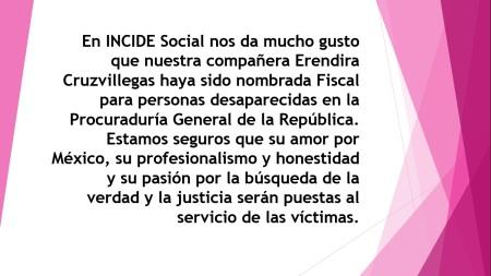 Felicitaciones Erendira Cruzvillegas